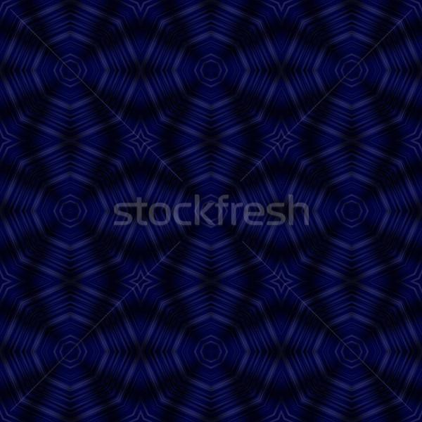 Foto stock: Escuro · azul · caleidoscópio · ilustração · belo · fundo