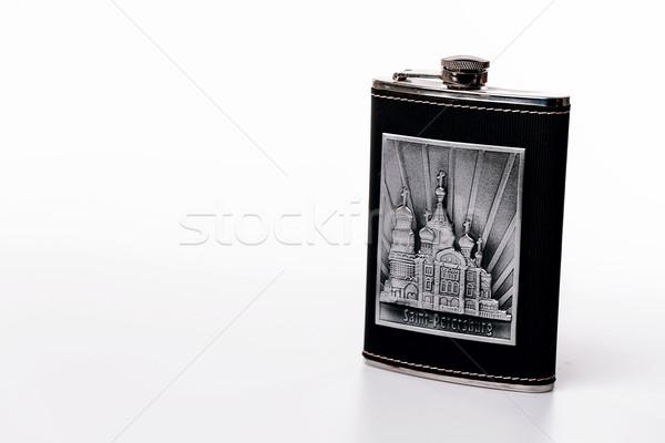 Inoxidável quadril isolado branco garrafa Foto stock © jarin13