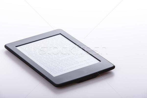 Foto stock: Preto · ebook · leitor · comprimido · branco · tecnologia