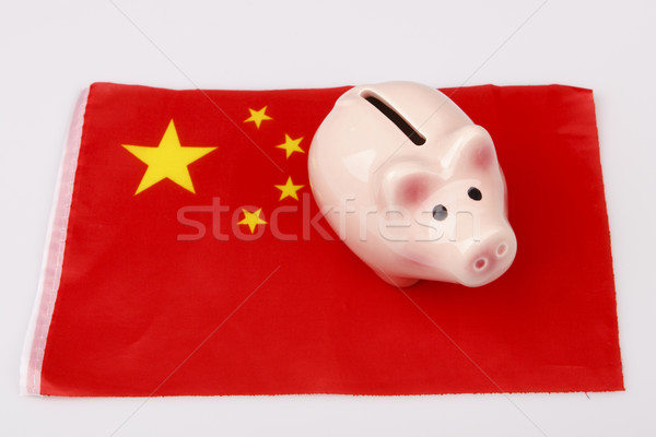 pig money box and China flag Stock photo © jarin13