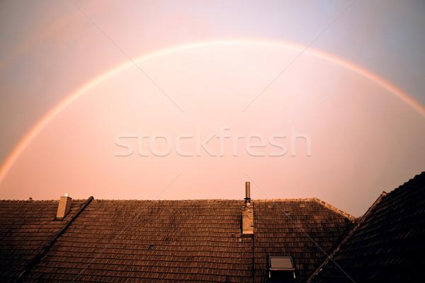 ストックフォト: 虹 · 美しい · 空 · 水 · 雲