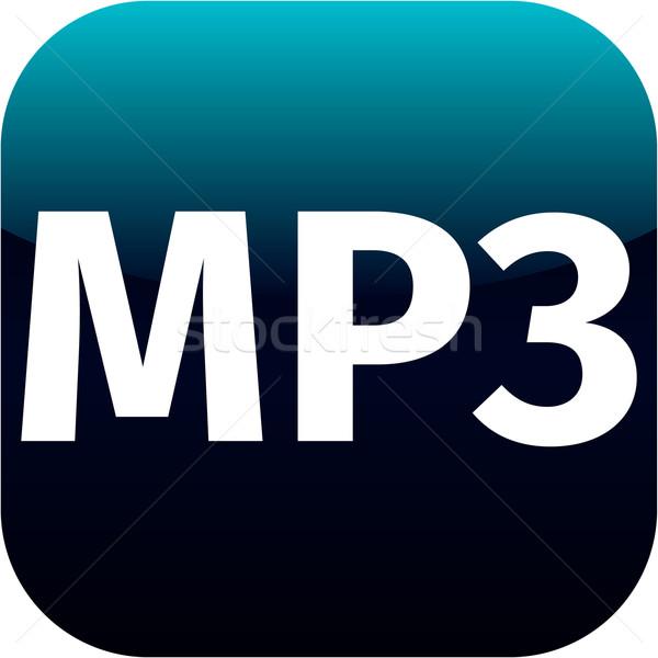 Blu mp3 musica icona download icon web Foto d'archivio © jarin13