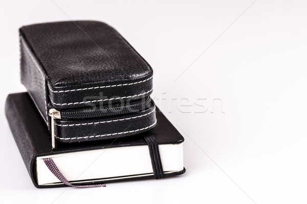 Stylo journal planificateur blanche livre Photo stock © jarin13