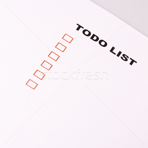 To Do list with check marks  Stock photo © jarin13