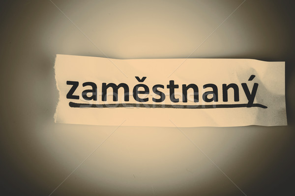 The word employed in czech language Stock photo © jarin13