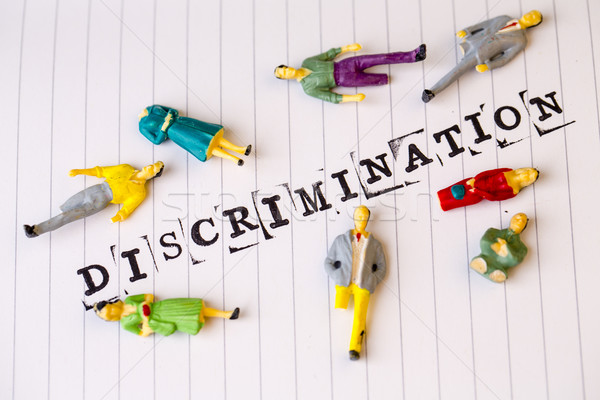 discrimination text on paper, disabled people Stock photo © jarin13