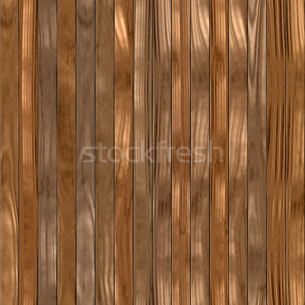 seamless texture of brown wooden planks possible for fence Stock photo © jarin13