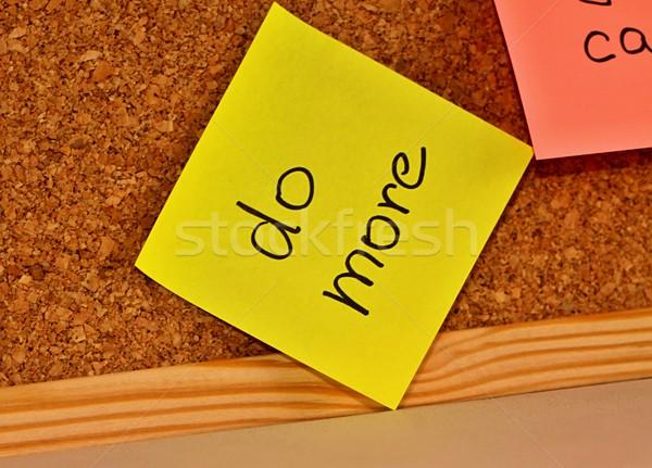 Hirdetőtábla öntapadó jegyzet dugó szöveg papír háttér Stock fotó © jarin13