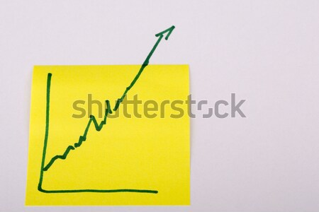 Stock fotó: Levélpapír · pénzügy · üzleti · grafikon · lefelé · veszteség · közelkép