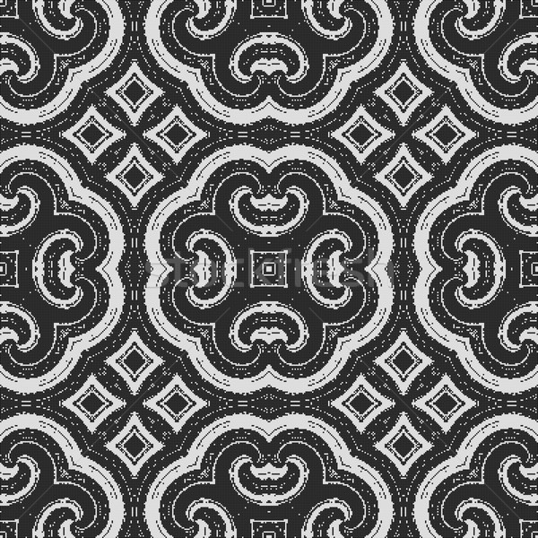 black and white pattern - possible for curtain, fabric, table-cloth Stock photo © jarin13