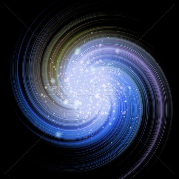 Csillagok örvény univerzum kék gyönyörű égbolt Stock fotó © jarin13