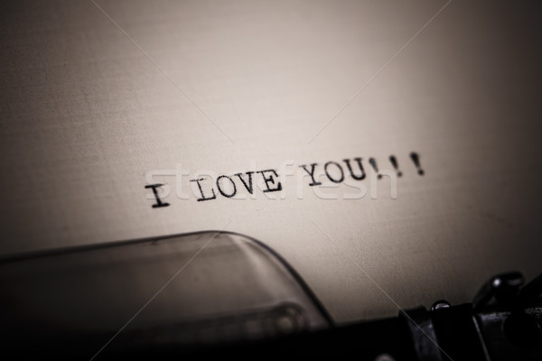 'I love you' message typed by vintage typewriter Stock photo © jarin13