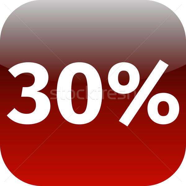 30 por cento ícone vermelho branco telefone Foto stock © jarin13