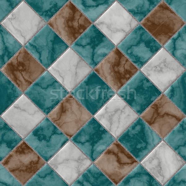 Textura cinza azul pedra azulejos sem costura Foto stock © jarin13