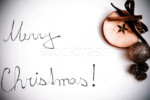 Merry Christmas greeting Stock photo © jarin13