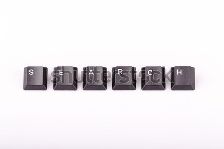 text search formed with computer keyboard keys on white backgrou Stock photo © jarin13