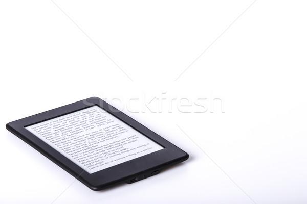 Negro ebook lector tableta blanco tecnología Foto stock © jarin13