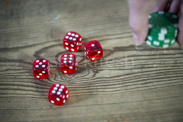 dice and chips Stock photo © jarin13