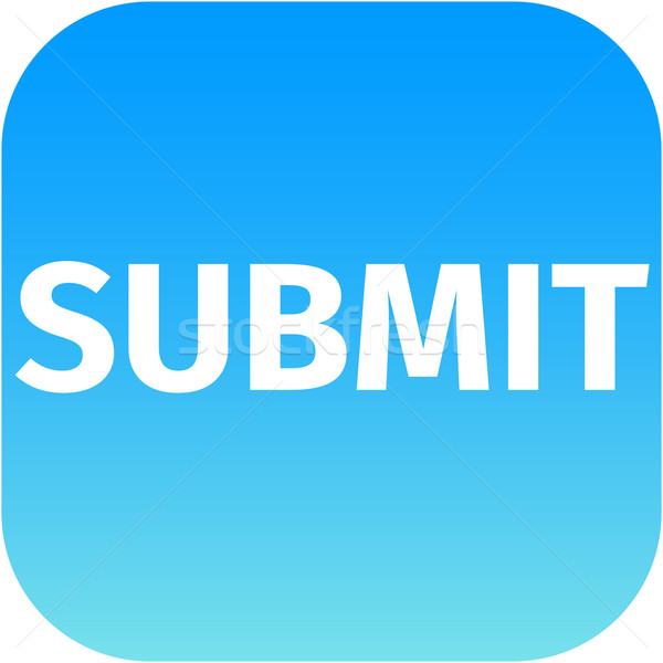 blue text submit icon for app Stock photo © jarin13
