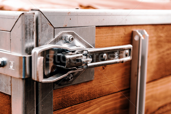 lock on the back of trailer Stock photo © jarin13