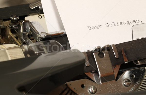 Text Dear Colleagues typed on old typewriter Stock photo © jarin13
