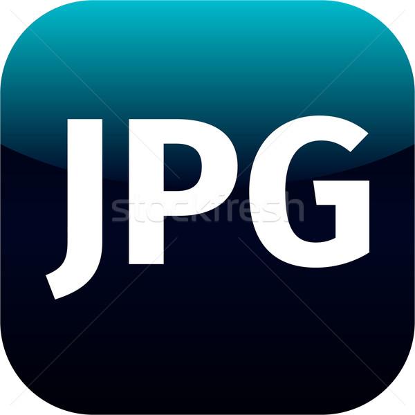 Pliku jpg podpisania ikona pobrania obraz Zdjęcia stock © jarin13