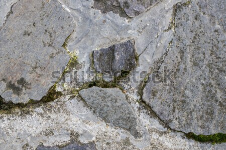 Szczegół starych kamień bruk placu tekstury Zdjęcia stock © jarin13