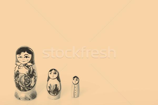 Russian Dolls Matryoshka Isolated on a white background Stock photo © jarin13