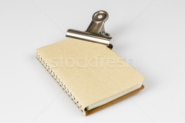 closed empty book or diary on white Stock photo © jarin13