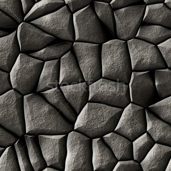 ornate cobble stone pavement texture - stones Stock photo © jarin13