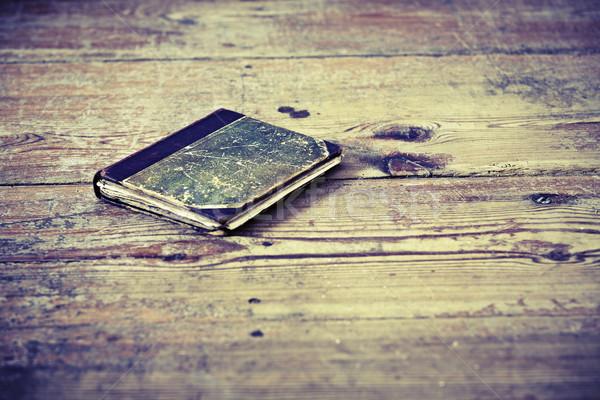 Eski kitap güzel ahşap kitaplar okuma Stok fotoğraf © jarin13