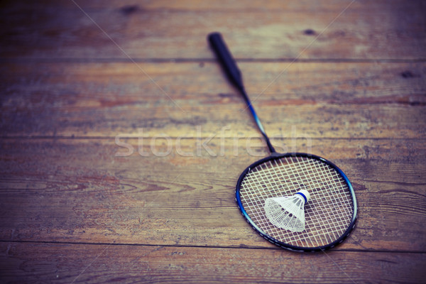 vintage badminton racquet Stock photo © jarin13