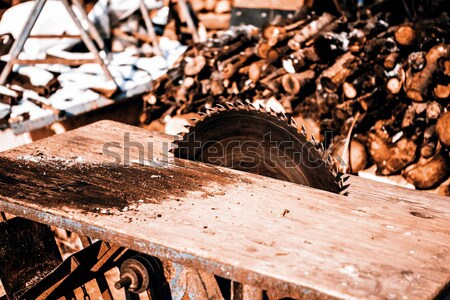 увидела лезвия старые ручной работы дома Сток-фото © jarin13