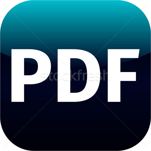 Arquivo pdf assinar ícone baixar documento Foto stock © jarin13