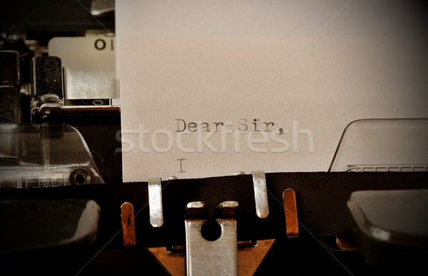 Text Dear Sir typed on old typewriter Stock photo © jarin13