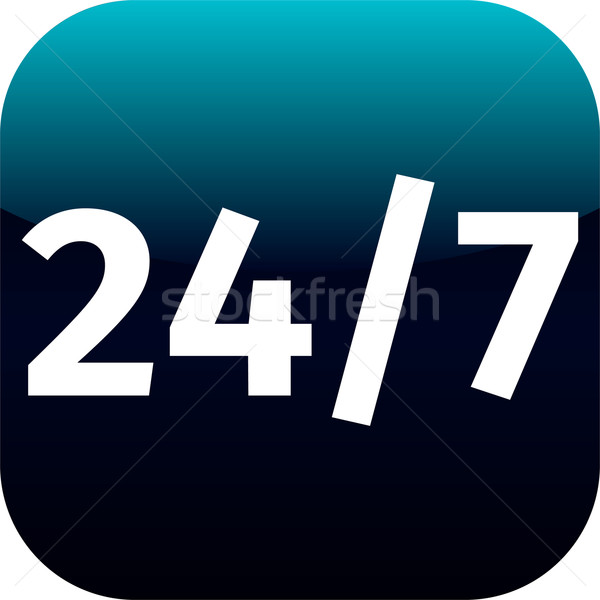 24/7 nonstop time blue icon Stock photo © jarin13