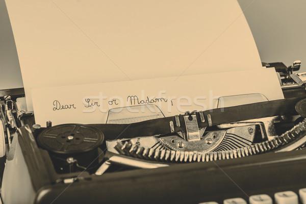 paper in typewriter Stock photo © jarin13
