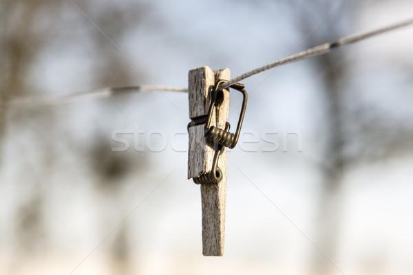 壊れた 洗濯挟み 線 フォーカス フォアグラウンド 春 ストックフォト © jarin13