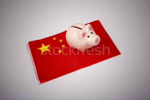 pig money box and China flag Stock photo © jarin13