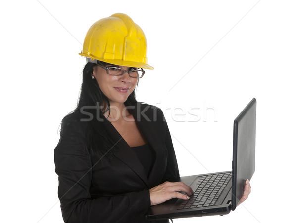 çalışmak pc bir kadın patron iş Stok fotoğraf © jarp17