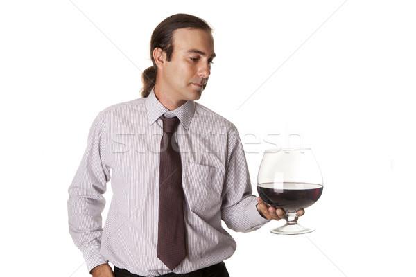 большой стекла дегустация вин сомелье дегустация вино Сток-фото © jarp17