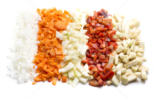 various fresh vegetables to prepare a healthy meal Stock photo © jarp17
