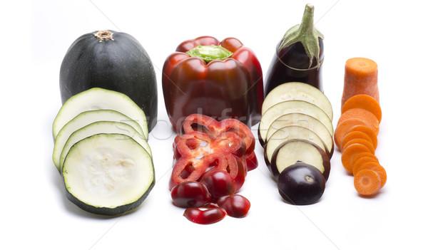 Zöldségek hozzávalók különböző friss zöldségek egészséges étel étel Stock fotó © jarp17