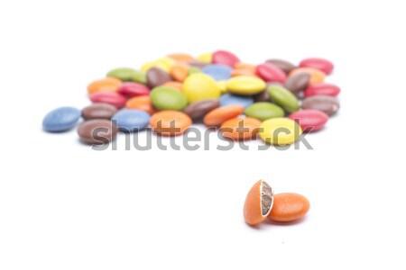 Doce morder círculos diferente cores chocolate Foto stock © jarp17