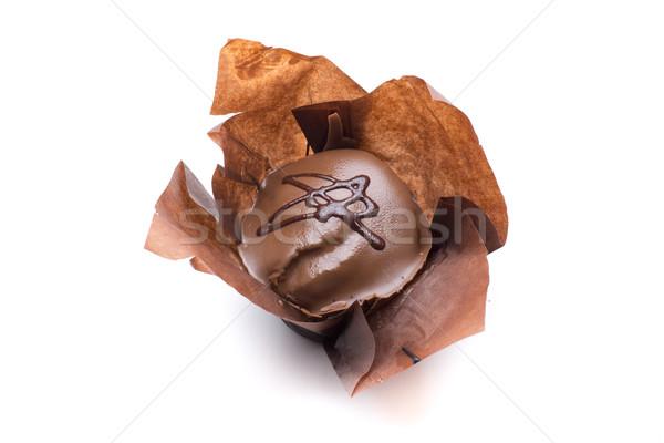 çörek kahverengi dekore edilmiş çikolata şeker Stok fotoğraf © jarp17