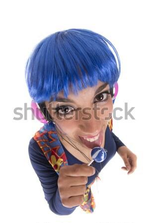 хиппи леденец красный хиппи девушки красочный Сток-фото © jarp17