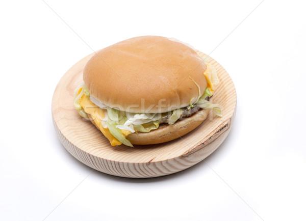 Cheeseburger hamburger formaggio carne lattuga Foto d'archivio © jarp17