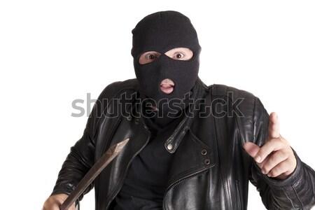 Hırsızlık araç adam hırsız güvenlik bar Stok fotoğraf © jarp17