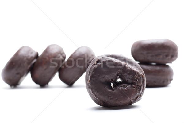 Dolce ciambella parecchi cioccolato colazione Foto d'archivio © jarp17