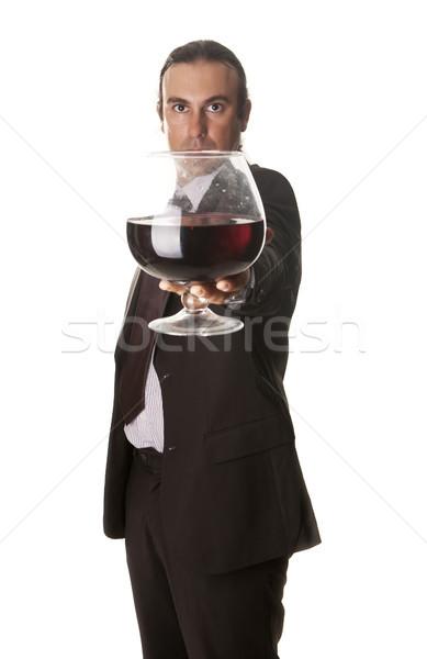 огромный стекла сомелье гигант вино работу Сток-фото © jarp17